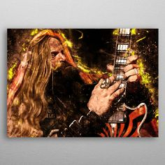 Father Zakk Caricature by Abraham Szomor | metal posters - Displate