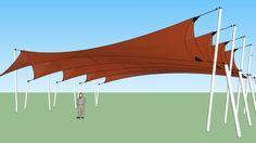 Large preview of 3D Model of Tensile Structure - Lona Tensada