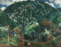 LARGE SIZE PAINTINGS: Nikolai ASTRUP (1880 - 1928) Apple Tree in Blossom
