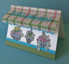 Annie's Ink-Lings: Flowers for Sale at the Flower Shop, SU Flower Shop Set Hanging Basket Garden, Hanging Baskets, Flower Birthday Cards, Flower Cards, Flowers For Sale, Diy And Crafts, Paper Crafts, Card Making Inspiration, Stampin Up Cards