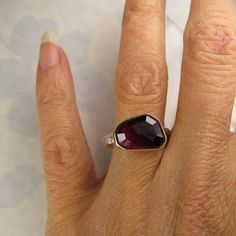 Rose Cut Pink Tourmaline Ring  18k Gold and by JanishJewels, $189.00