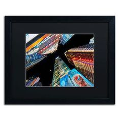 """Trademark Art 'Times Square NYC' by David Ayash Framed Photographic Print Matte Color: Black, Size: 16"""" H x 20"""" W"""