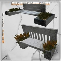 Garden Bench Mesh 2 set Full perm