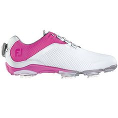 FootJoy DNA BOA Golf Shoes 2016 Ladies CLOSEOUT WhiteFuchsia Medium 5 ** You can find more details by visiting the image link. (This is an affiliate link) Best Golf Shoes, Womens Golf Shoes, Shoes Women, Callaway Golf Shoes, Shoe Manufacturers, Shoes 2016, Golf Accessories, Golf Outfit, Ladies Golf