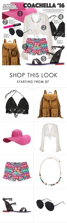 """Coachella '16"" by ivansyd ❤ liked on Polyvore featuring Yves Saint Laurent, Mes Demoiselles..., Victoria's Secret, Kate Spade, Accessorize, Sophia Webster, NARS Cosmetics and coachella"