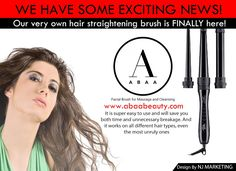 We have some exciting news! Our very own hair straightening brush is FINALLY here! It is super easy to use and will save you both time and unnecessary breakage. And it works on all different hair types, even the most unruly ones👌🏻 http://www.abaabeauty.com/products/abaa-500