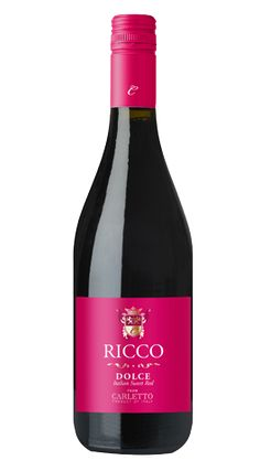 """☆ Ricco Dolce, meaning """"rich and sweet,"""" is a blend.  The Brachetto adds fresh red berry flavors, while Malvasia Rosso imparts soft rounded and slightly floral characteristics.  The finish is seductively fruity.  With balanced acidity.  And a creamy mouthfeel with fresh flavors of cherry and strawberry."""