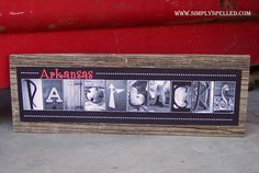 Arkansas razorbacks barnwood sign...Love it!