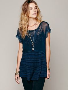 Free People Blue Phoenix Tunic Top - teal - sold out