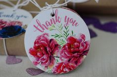 Thank You gift tagsstickerslabelswatercolor by BestDesignland