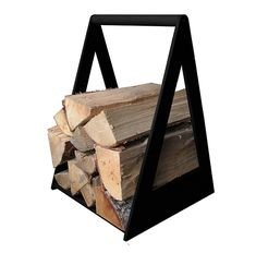 Puunkantoteline, musta Firewood Storage, Furniture Inspiration, Easy Crafts, Bookends, Diy Projects, Woodworking, Handmade, Haku, Home Decor