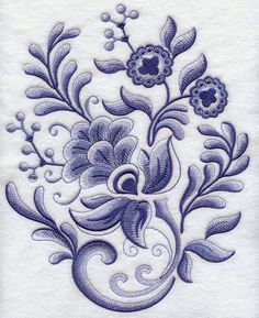 Machine Embroidery Designs In Flowers | Fashion Reliable
