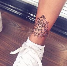 Ankle Tattoos for Girls That Are Amazingly Vibrant and Vivid Ankle Tattoos For Women Mandala, Ankle Tattoo Mandala, Anklet Tattoos For Women, Ankle Tattoo Designs, Foot Tattoos For Women, Womens Ankle Tattoos, Henna Inspired Tattoos, Boho Tattoos, Sexy Tattoos