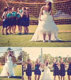 Soccer themed wedding - fun photos - bridesmaids- wedding pictures - be different be farid