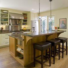 Dual Height Counter For Bar Counter Hides Messy Counter · Kitchen RenoKitchen  IslandsKitchen ...