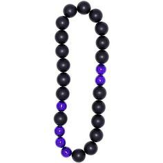 Electric blue bead necklace   FLorian