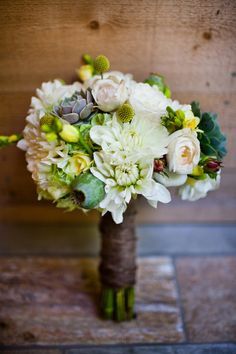The Bride's Cafe. Succulents and dahlias...*swoon etc*