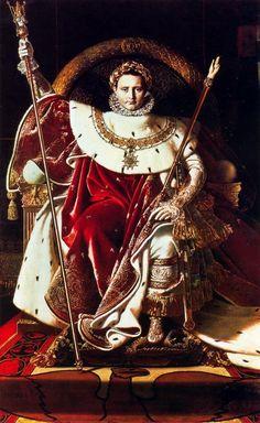 Napoleón como Júpiter Entronizado. Ingres. Neoclasicismo. S. XIX.