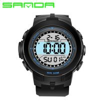 Watches Frugal Cool Digital Watch Men Led Fashion Watches Luxury Mesh Binary Watches Male Digital Hour Clock Montre Homme Masculino Relojes High Quality Materials Digital Watches