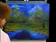 Bob Ross Blue River - The Joy of Painting (Season 6 Episode ★ Painting Lessons, Painting Techniques, Art Lessons, Painting & Drawing, Bob Ross Painting Videos, Bob Ross Paintings, The Joy Of Painting, Peintures Bob Ross, Bob Ross Art