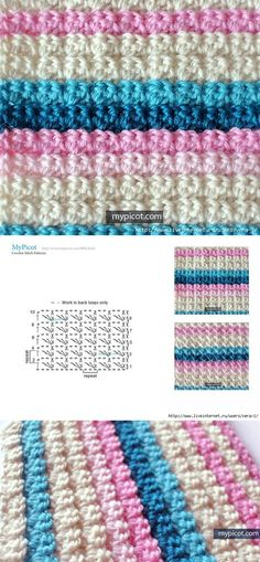 Crochet Brick Stitch Diagram Pattern Or Chart Link To The Front