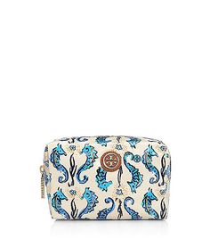 Tory Burch seahorse makeup case...for someday when I have the ability to just throw down $70 on a makeup bag.