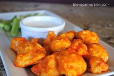 The Vegan Version: Buffalo Cauliflower Bites