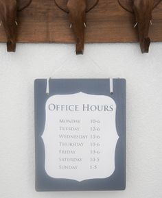 Open Closed sign for business Store or office hours Hanging Wood Sign. Handmade. Custom.