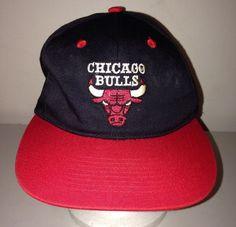 VTG 80s 90s NBA Snapback Hat Drew Pearson CHICAGO BULLS Basketball Cap #drewpearson #ChicagoBulls