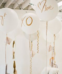 These oversize balloons are made from durable latex and make a sweet statement as party décor or a photo op prop.