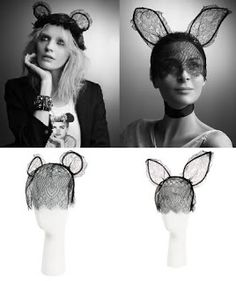 The Edge of Reason: December 2009 Lace animal ears