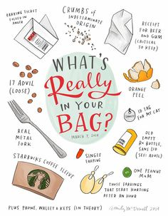 Whats really in your bag? - A CUP OF JO