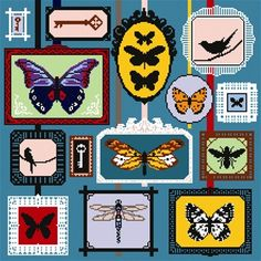 In The Frame needlepoint kit by Felicity Hall