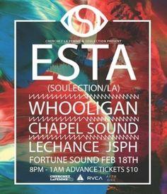 ESTA FEB 18 FORTUNE SOUND CLUB Electronic Music, Dj, Club