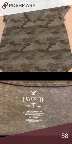 c5f67d678c3 American Eagle Favorite T Gently worn Favorite T in faded camo. American  Eagle Outfitters Tops