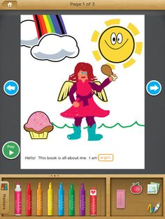 Free Book and Story Creator for kids. Kids can draw or write their own story, then read or share with someone. #kidsApps