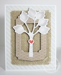 Card by PS DT Heidi Van Laar using the PS Fanciful Fall Icons, Duo Die 4, and Trees 1 dies