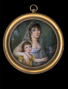 Young Mother with Child    circa 1805  watercolour and gouache