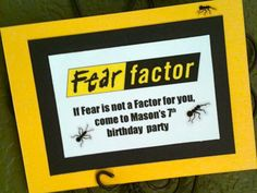 Fear Factor Birthday Party