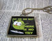 SOLDERED PENDANT Do or do not there is no try- Star Wars Necklace