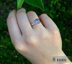 Alexandrite Ring Color Change Alexandrite in by AbishJewelryWorks #alexandrite #moodring #engagementring
