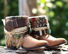 Custom vintage Black boho tribal upcycled COWBOY by TheLookFactory