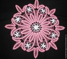 Текстиль, ярмарка Мастеров-ручная работа, розовый, заказать салфетка кружевная, русское кружево, вологодское кружево, коклюшечное кружево, для интерьера, салфетка кружевная розовая, MadamKrugevo