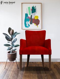 Floret Dining Chair With Red Color & Sheesham Wood Crafted By Fine Artists, Designed And Manufactured By Rainforest Italy In India. Luxury Dining Chair, Modern Dining Chairs, Kitchen Chairs, Dining Table Chairs, Stylish Chairs, Diy Chair, Wingback Chair, Chair Design, Home Furniture