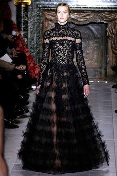 Gothic Couture: Valentino Spring 2013 Couture via Style.com