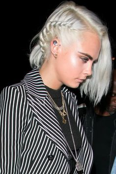 Cara Delevingne Will Make You Want to Cut Your Hair Short and Dye It Silver