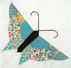 Alice Brooks Pieced Butterfly Pattern from Q is for Quilter.