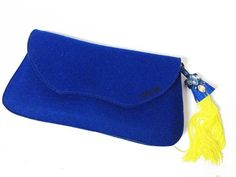Bluebird clutch   Unique handmade shoes and bags from wool felt tooche.me