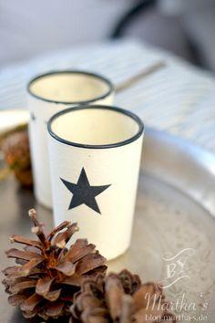 Teelichter mit #Sternenmotiv von #TineKHome, #Winterdeko, #marthas, www.martha-s.de