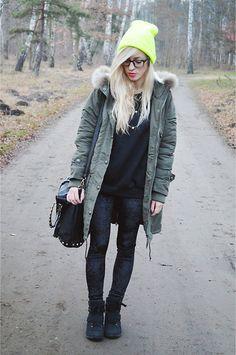 Parka jacket  (by Aneta M) http://lookbook.nu/look/4311411-Parka-jacket